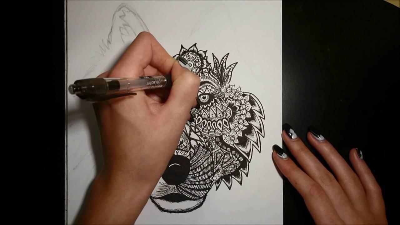 how to draw a mandela