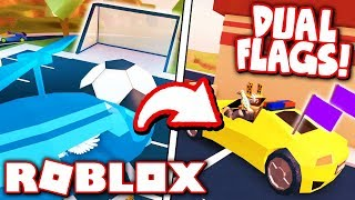 HOW TO GET THE DUAL FLAGS SPOILER in JAILBREAK UPDATE!! *SOCCER GOAL CHALLENGE!* (Roblox)