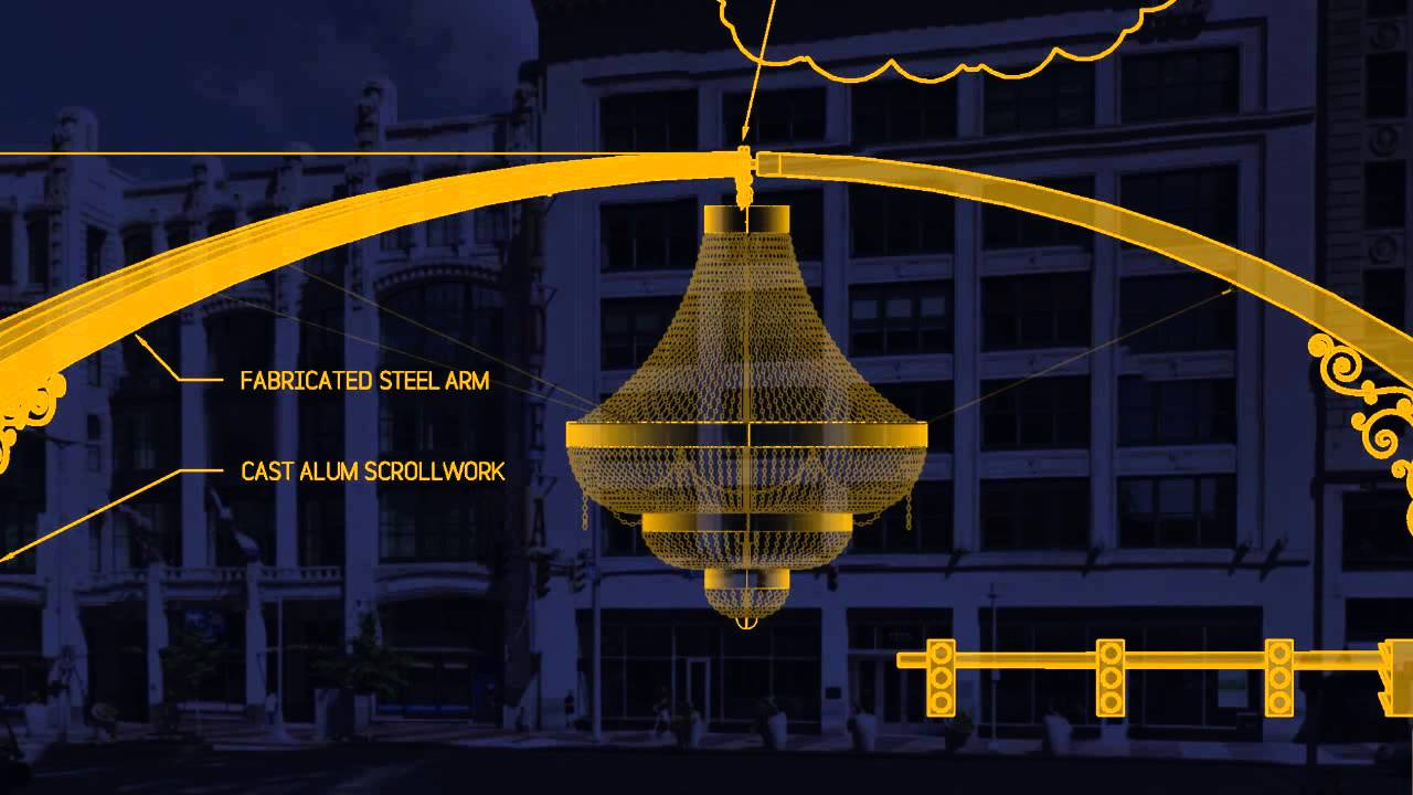 Playhousesquare Dazzle The District How Will Ge Chandelier Be Supported You