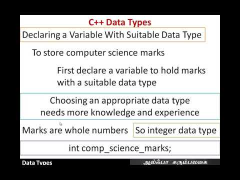 Data Types (+1 CS Chapter 9-07)