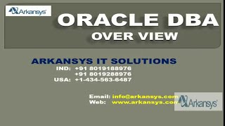 ORACLE DBA ONLINE TRAINING   DBA OVERVIEW   DBA ONLINE LIVE DEMO