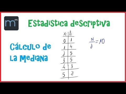 Estadística descriptiva - Cálculo de la mediana