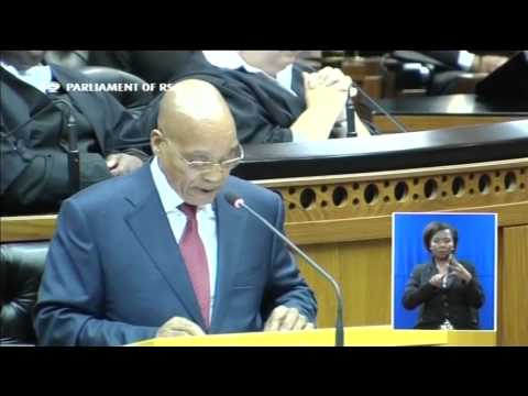 S.African President Jacob Zuma delivers SONA 2015