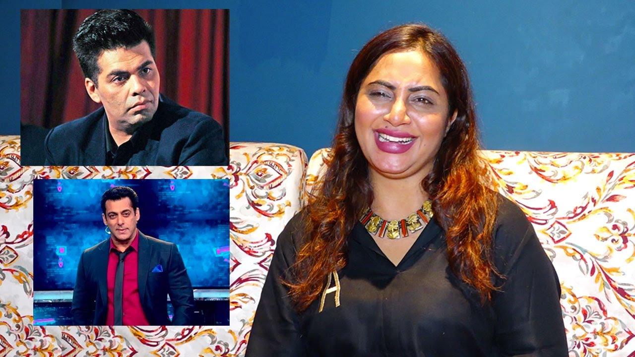 Arshi Khan Laughs Hysterically At Karan Johar Choice For Hosting Next Bigg Boss Inplace of Salman