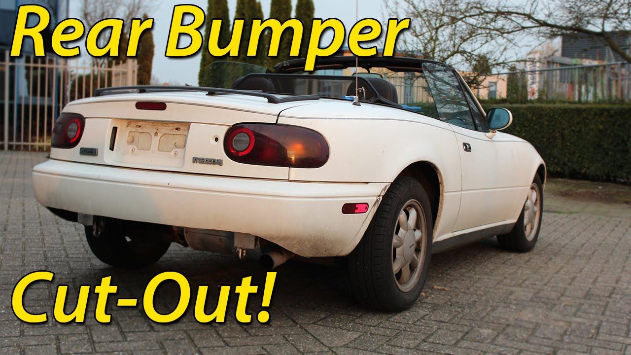 How to: Miata Rear Bumper Cut Out! #CheapMod
