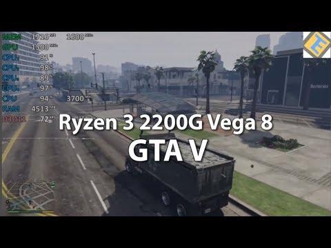 Gta V On Ryzen 3 2200g Gameplay Benchmark Test Vega 8 Igpu 1500mhz Youtube