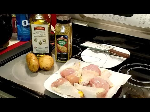 LiVE! Air Fryer Chicken Drumsticks And Potatoes