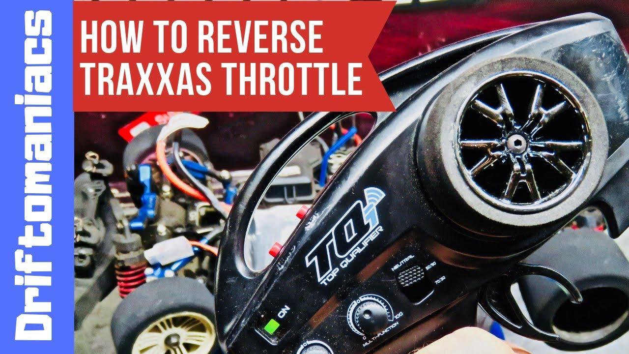 How To Reverse Traxxas Throttle Servo On Traxxas Tqi Transmitter Youtube