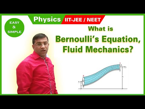 Bernoulli's Equation, Fluid Mechanics