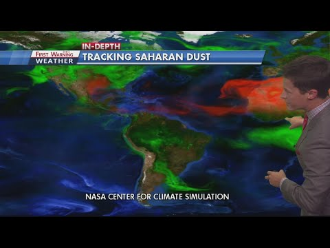 KXAN's David Yeomans explaining the Saharan dust and how it suppresses hurricane formation