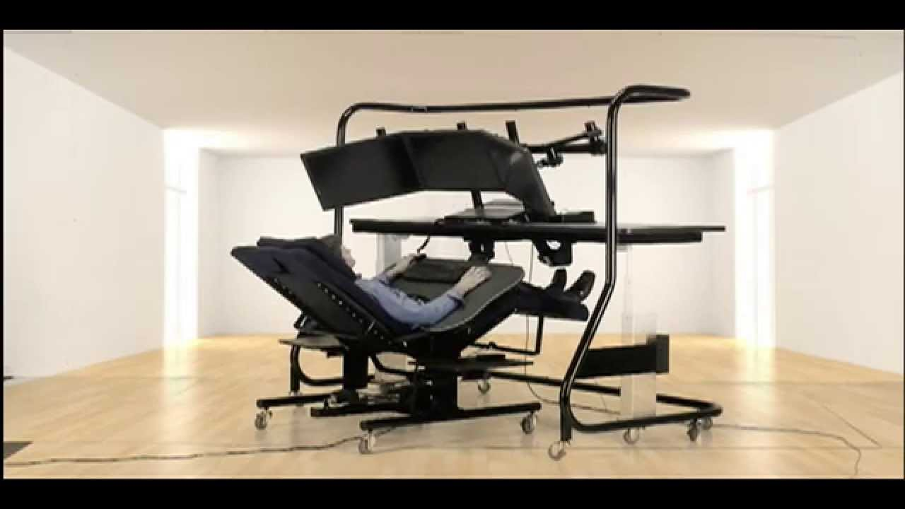Ergoquest zero gravity chairs and workstations - Zero Gravity Workstation 5 With Large Monitors Ergoquest Inc