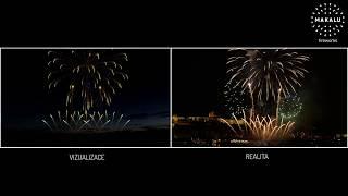 Navalis 2017 - pyromuzikální ohňostroj - vizualizace vs. realita