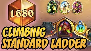 Climbing Standard Ladder with New Rogue! | Rise Of Shadows | Hearthstone