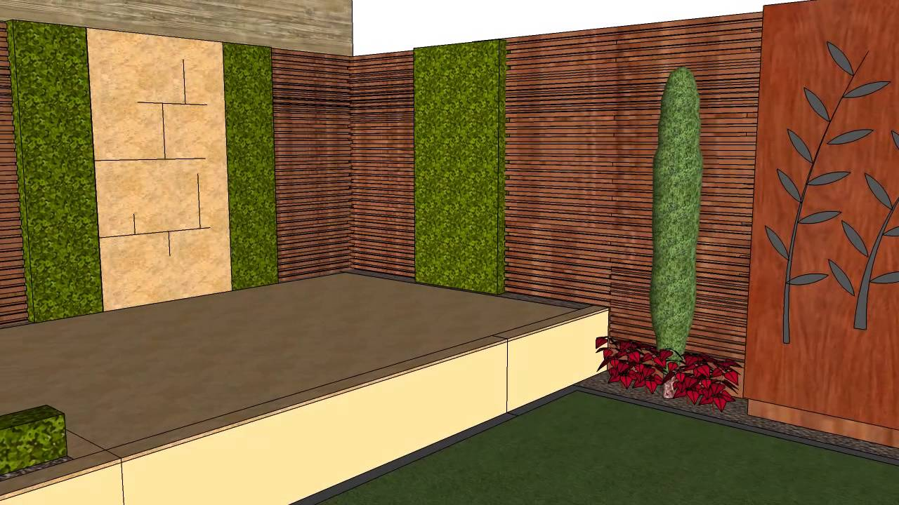 Garden Design for Warwick, St Albans - YouTube
