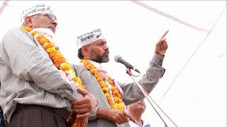 aap leader yogendra yadav adrees in patiala,,,