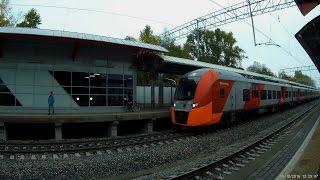 Три поезда, приветствие. МЦК Верхние Котлы.