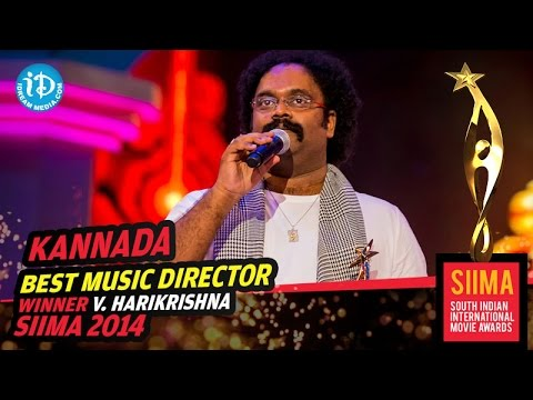 Kannada Best Music Director V. Harikrishna for Bulbul Movie @ SIIMA 2014, Malaysia