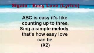 Sigala   Easy Love Lyrics