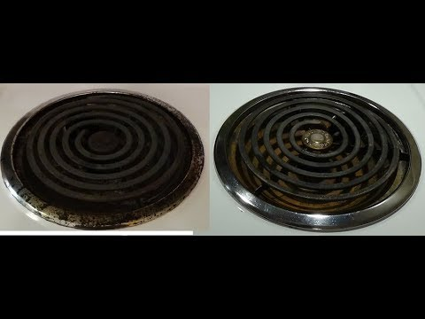 Dollar Tree Cleaning Hack - Cleaning Stubborn Stains on Your Stoves Burner Pans