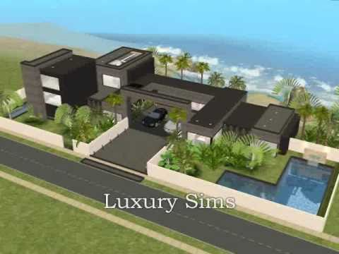 Luxury modern beach house the sims 2 youtube for Beach house 3 free download