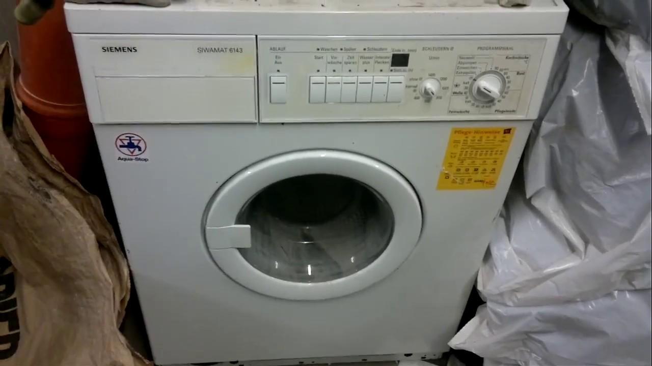 Siemens siwamat 6143 waschmaschine youtube