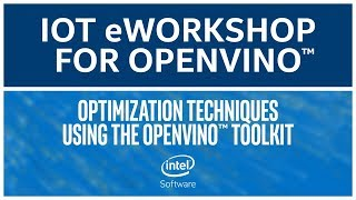 Optimization Techniques | Intel® Distribution of OpenVINO™ Toolkit | eWorkshop | Intel Software