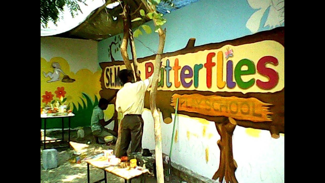 PlaySchool class room and Wall paiting - YouTube