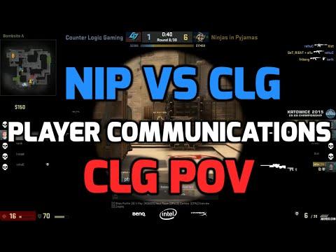 Katowice 2015 - NiP vs CLG with players communications (CLG POV English)