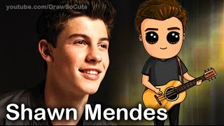 "How to Draw Chibi Shawn Mendes step by step ""Stitches"" song"