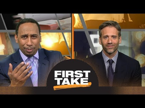 Stephen A. loses it when Max blames him for Markelle Fultz's broken shot | First Take | ESPN