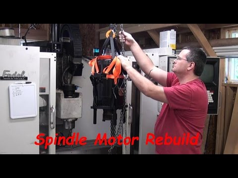 Spindle Motor Replacement on Fadal CNC Mill