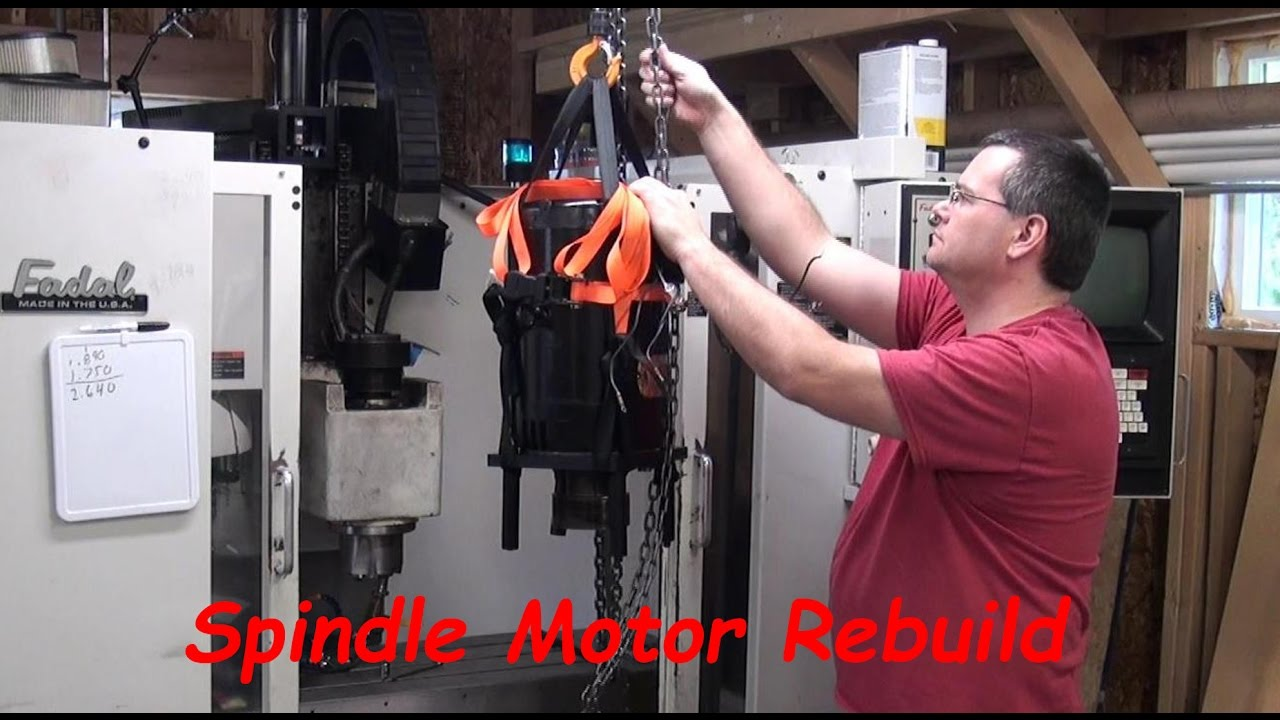 Spindle Motor Replacement on Fadal CNC Mill on