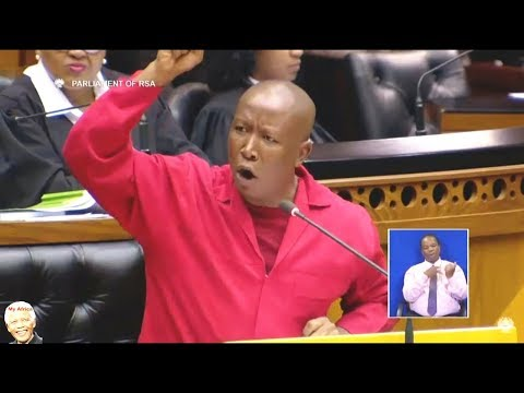 EFF Julius Malema - No Confidence Debate In Jacob Zuma