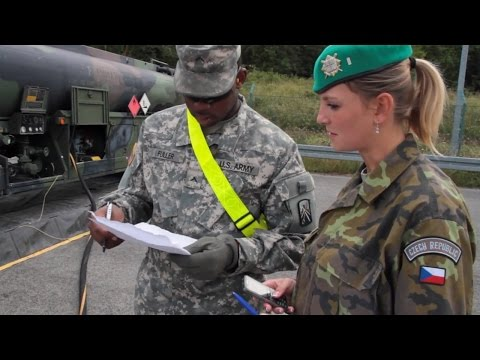 Czech Republic & U.S. Soldiers Work Together in Saber Junction 2014