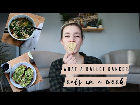 WHAT A BALLET DANCER EATS IN A WEEK - Vegan food and Intuitive Eating during the holidays