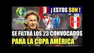 ¡SE FILTRÓ! Ricardo Gareca ya tendría lista de convocados para la Copa América Brasil 2019