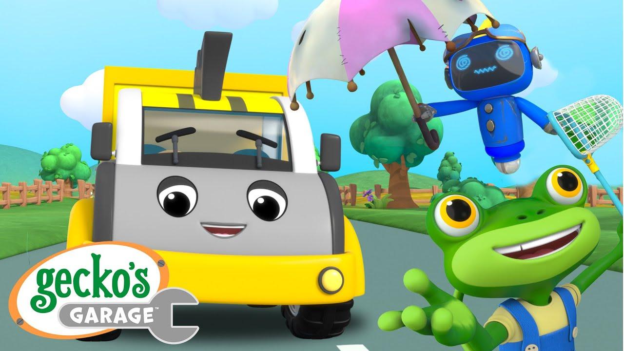 Gecko Saves a Runaway Dump Truck - Trash Treasure Hunt! | Gecko's Garage | Cartoons For Kids