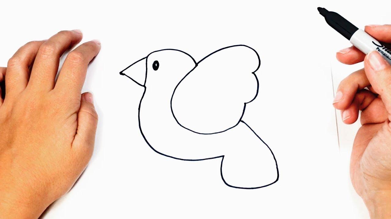 Como Dibujar Un Pajaro Facil Paso A Paso Dibujo Facil De Pajaro