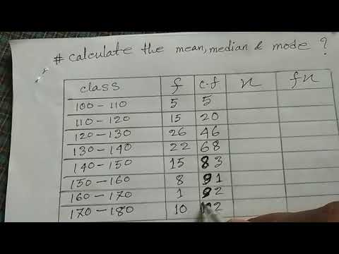 mean median and mode part 2