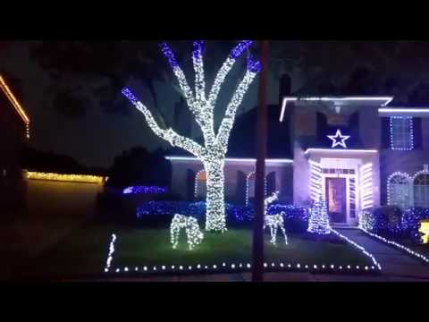 Dallas Cowboys Christmas Lights 2017 - YouTube