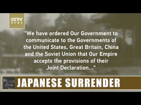 70 Seconds, 70 Years: Japanese surrender in World War Two