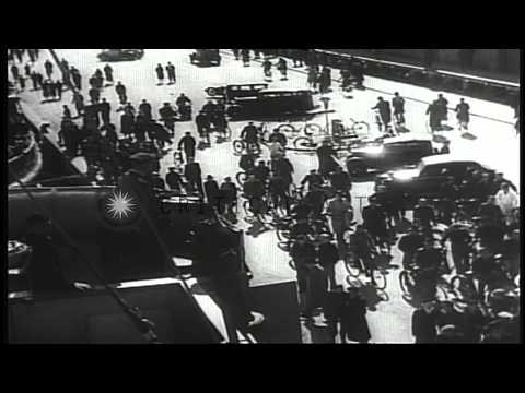 German Invasion and Occupation of Denmark in World War 2 HD Stock Footage