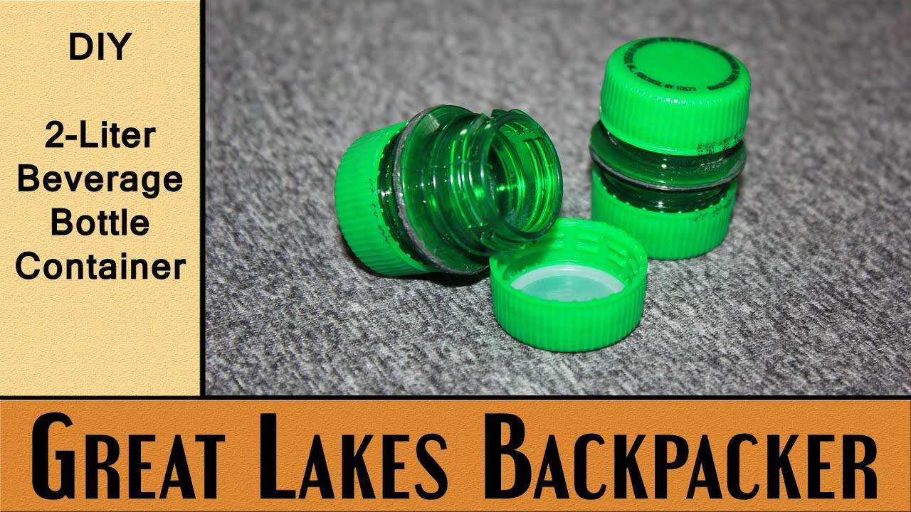 Diy project 2 liter beverage bottle container youtube for What can i make with bottle caps
