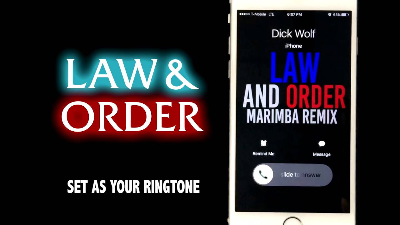 ringtone law and order sound
