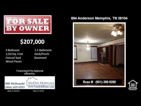 4 Bedroom House for Sale near Central High School in Memphis TN