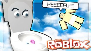 Roblox Adventures - DON'T DROWN IN THE TOILET! (Don't Fall in the Toilet Obby)