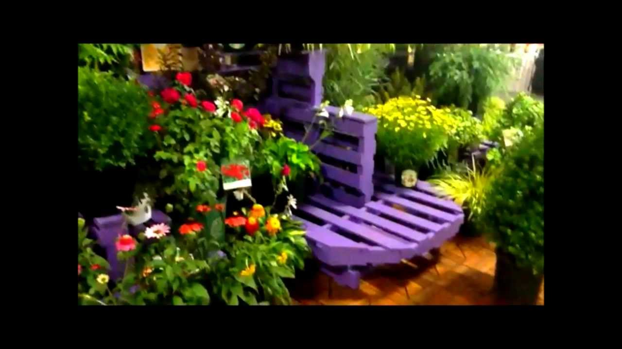 A retail plant display made from left over pallets youtube for Display home garden designs