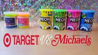 Target Neon Slime Compared Michaels Neon Slime Which One Better
