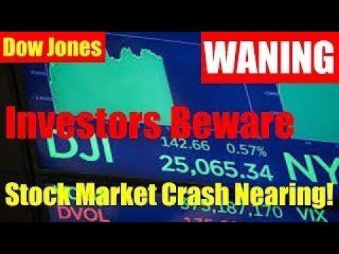 Investors Beware Stock Market Crash Nearing! Dow Jones Industrial Average to Reach 30,000