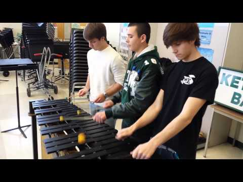 Radioactive - 6 hands marimba
